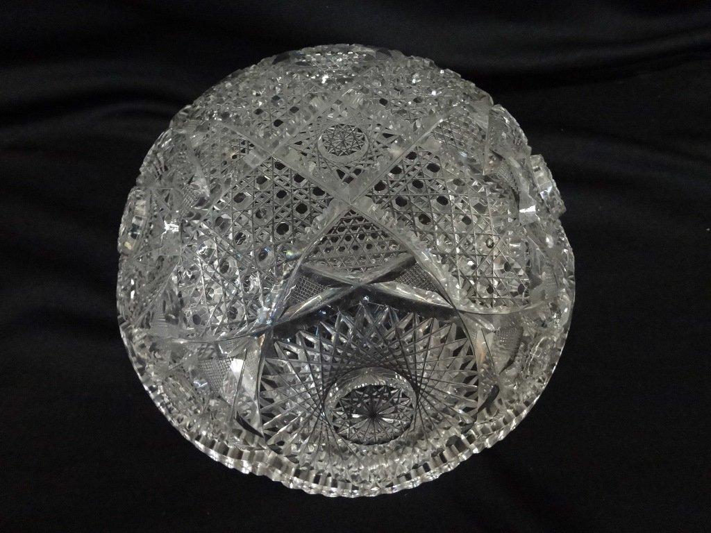 (3) American Brilliant Cut Glass Bowls - 6