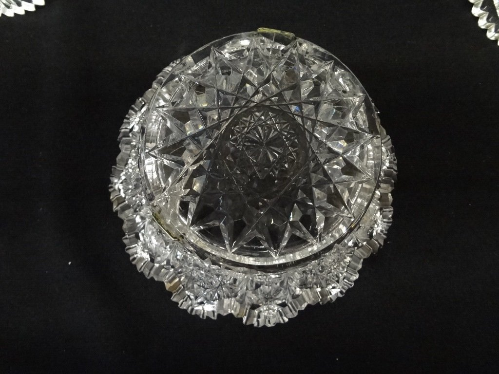 (3) American Brilliant Cut Glass Bowls - 7