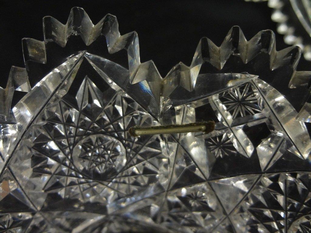 (3) American Brilliant Cut Glass Bowls - 9