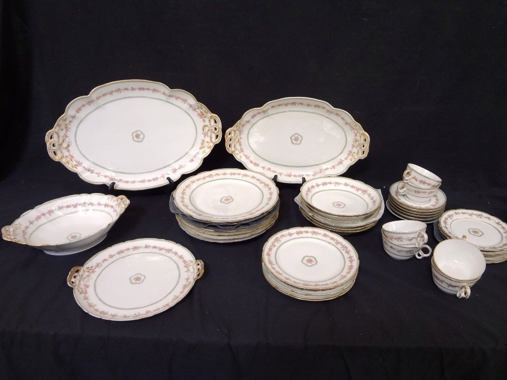 GDA Limoges France China Set Service for Four, with