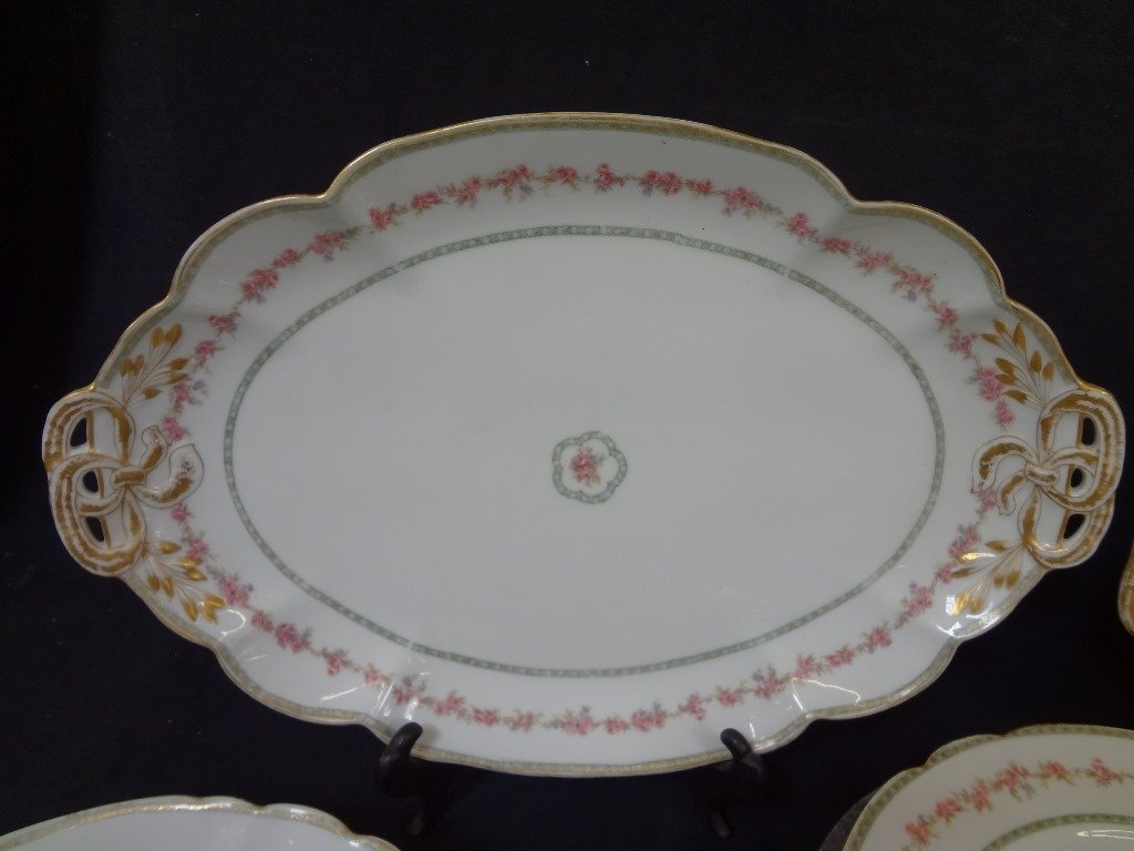 GDA Limoges France China Set Service for Four, with - 2