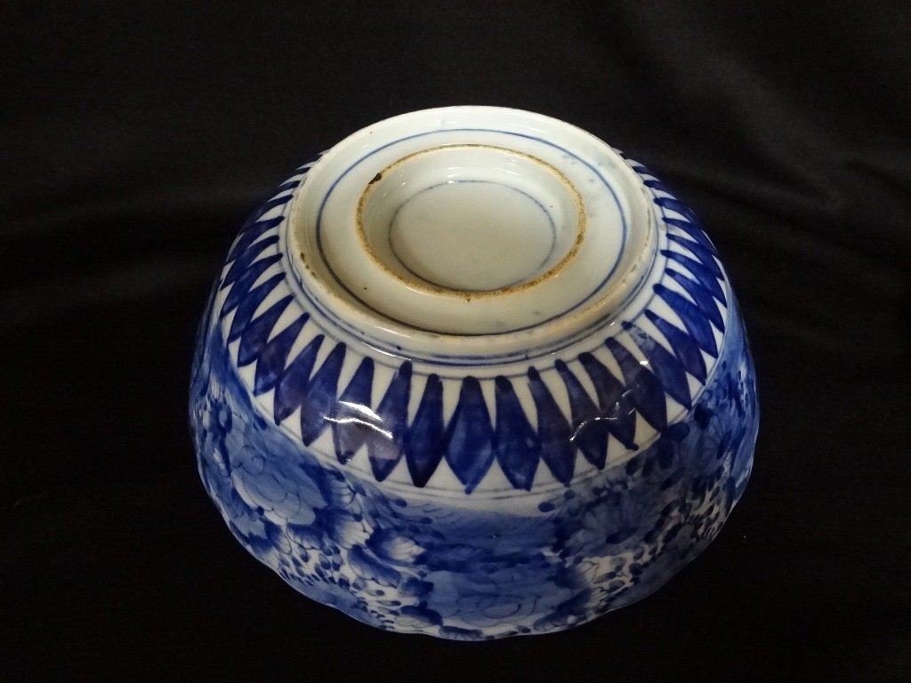 Blue and White Japanese Porcelain Bowl - 4