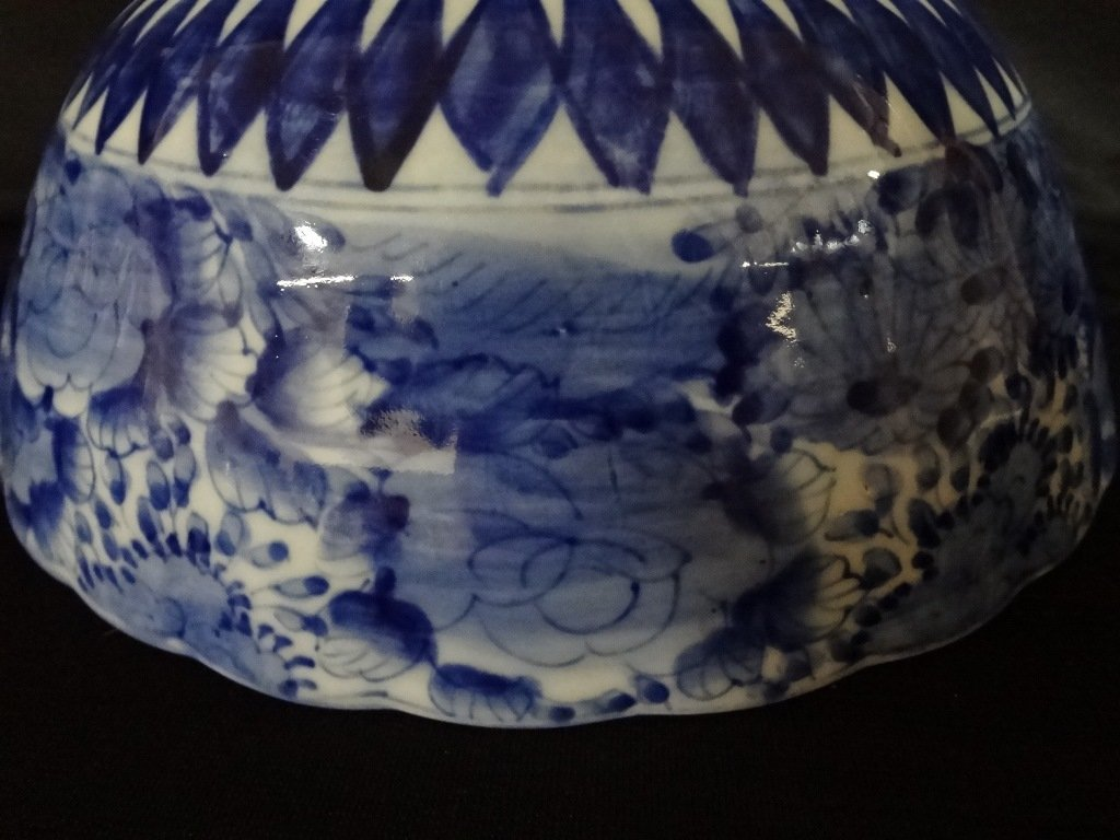 Blue and White Japanese Porcelain Bowl - 6