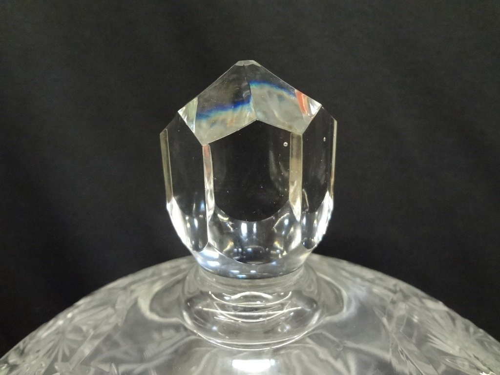 (2) American Brilliant Cut Glass Lidded Compotes - 5