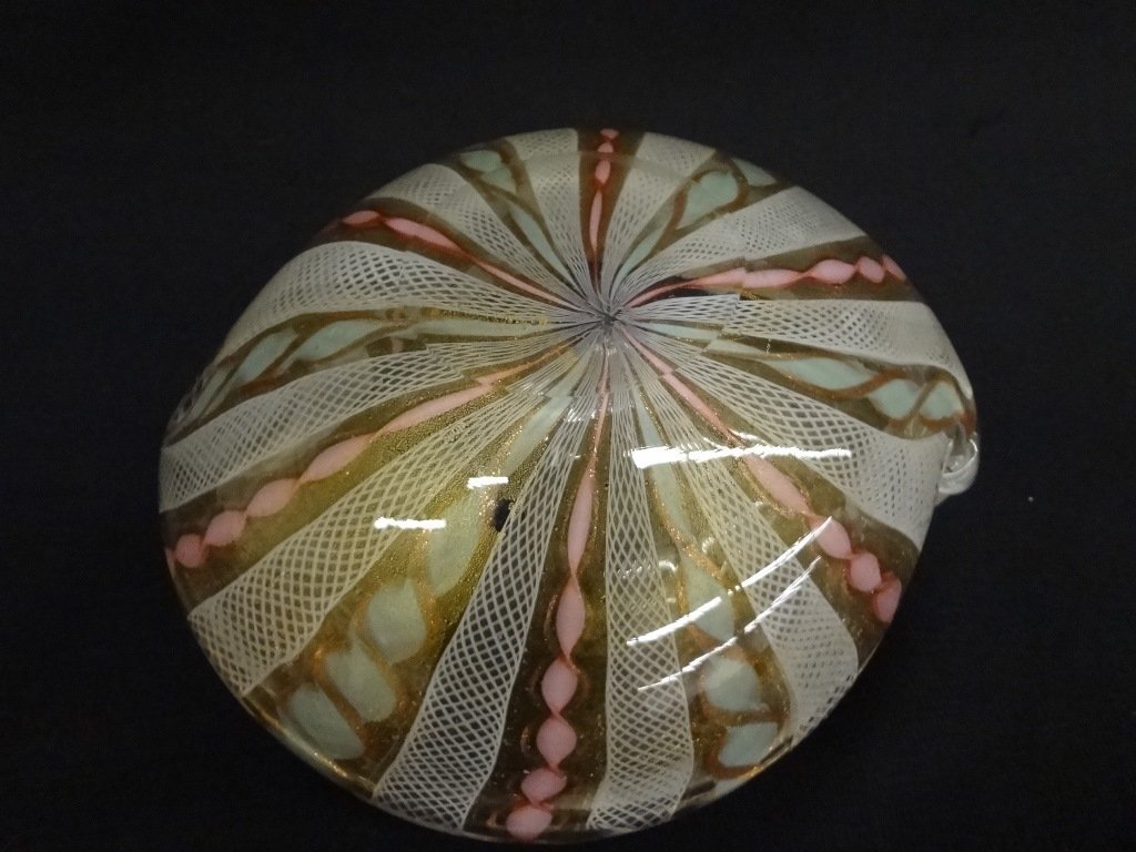 After Murano Swirl Art Glass Dish - 5