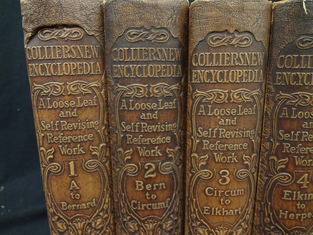 Collier's New Encyclopedia 10 Volumes 1921 Brown - 2