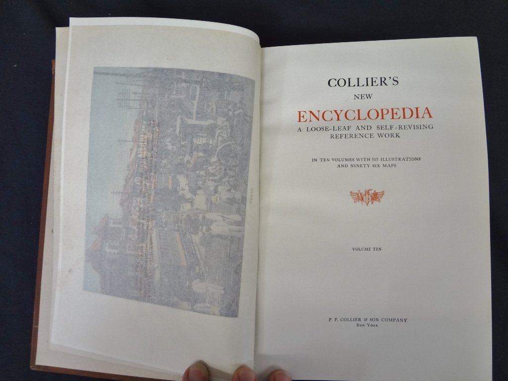 Collier's New Encyclopedia 10 Volumes 1921 Brown - 4
