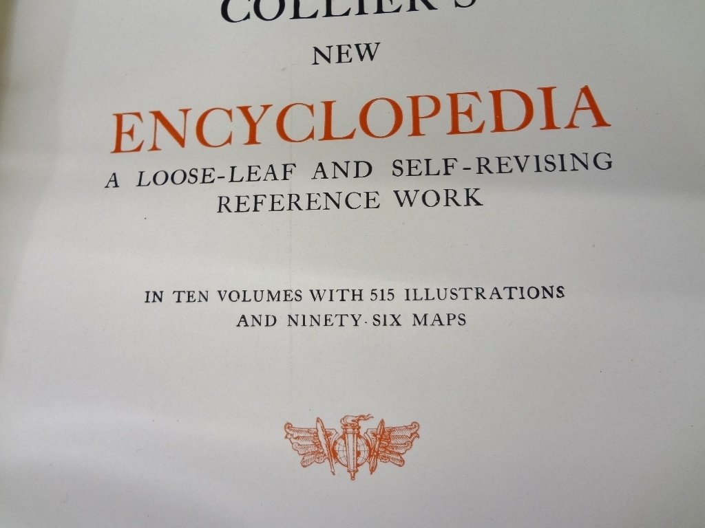Collier's New Encyclopedia 10 Volumes 1921 Brown - 5