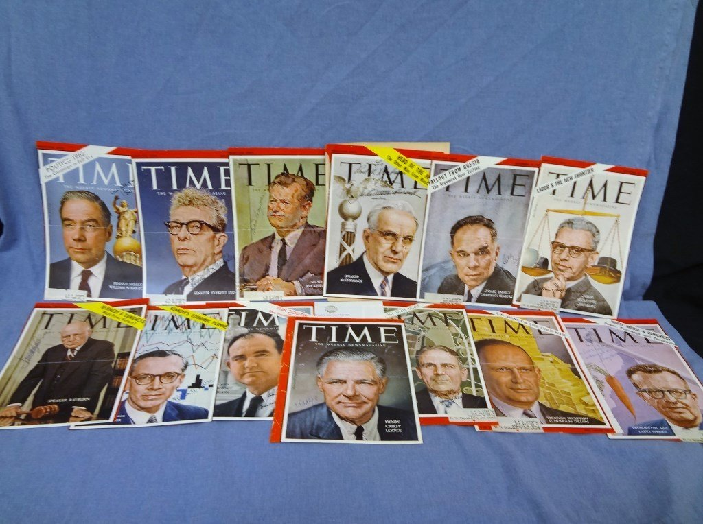 (16) Political Autographed Time Magazine Covers from