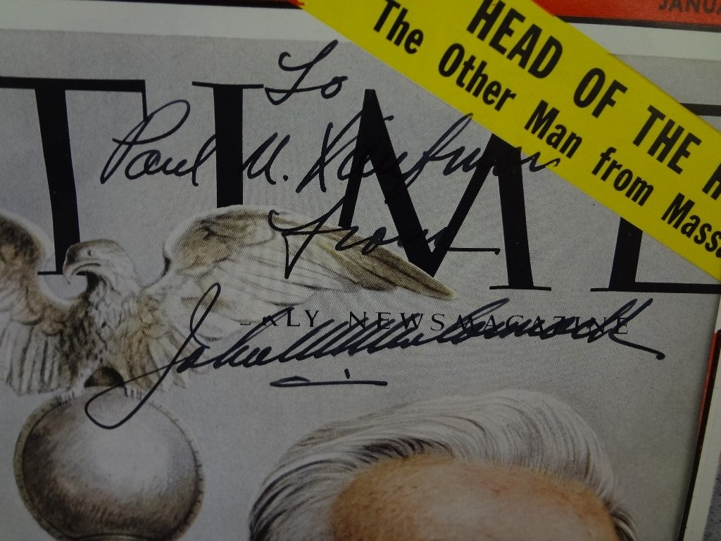 (16) Political Autographed Time Magazine Covers from - 6