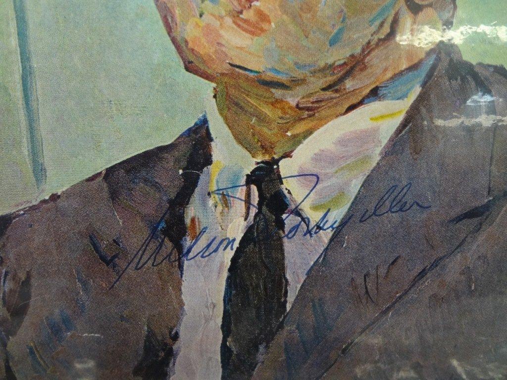 (10) Political Autographed Photos Rockefeller, Helms, - 4