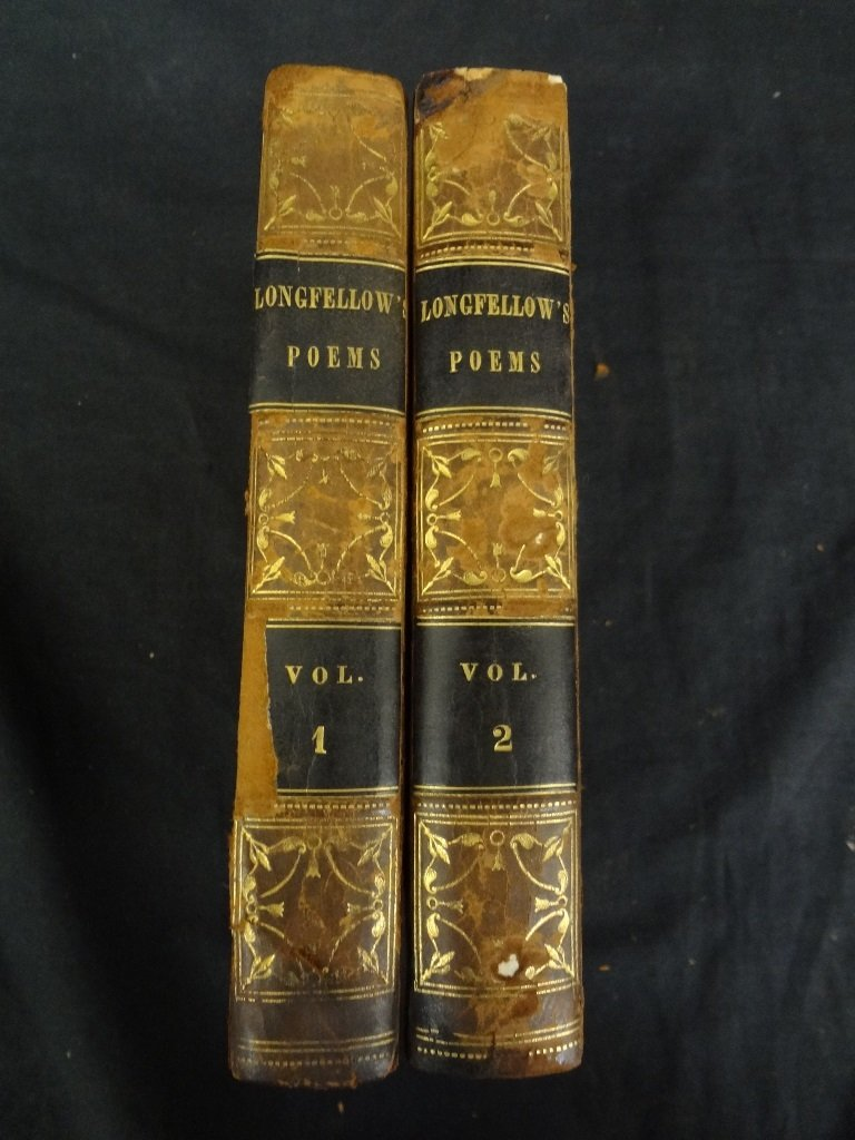 (2) Volumes Longfellow's Poems: Voices of the Night,