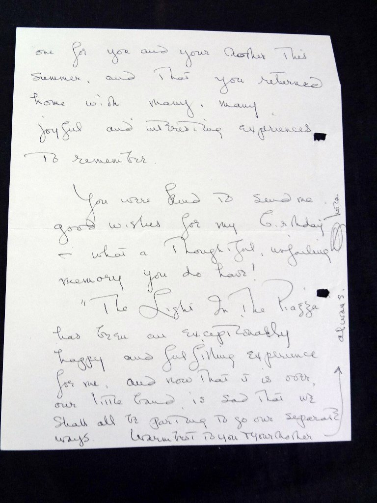 (7) Handwritten Letters from Olivia DeHavilland to - 10