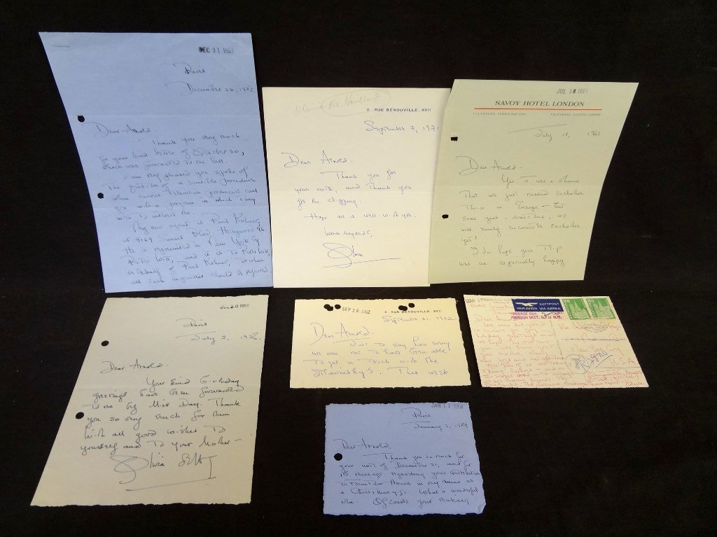 (7) Handwritten Letters from Olivia DeHavilland to