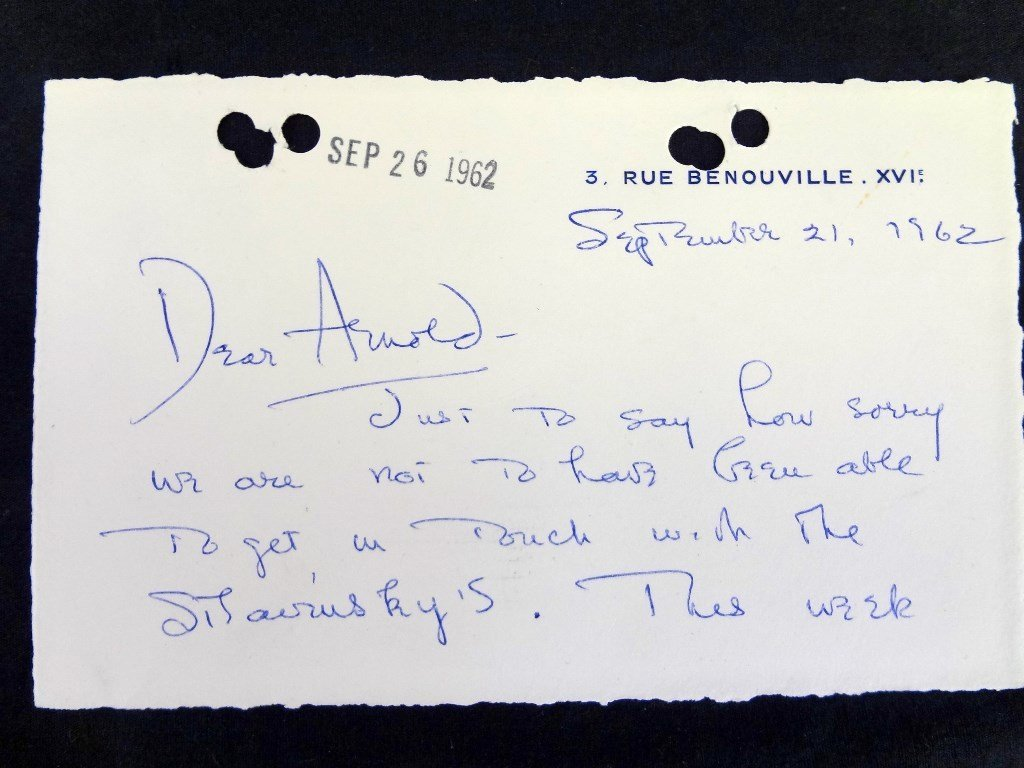 (7) Handwritten Letters from Olivia DeHavilland to - 5