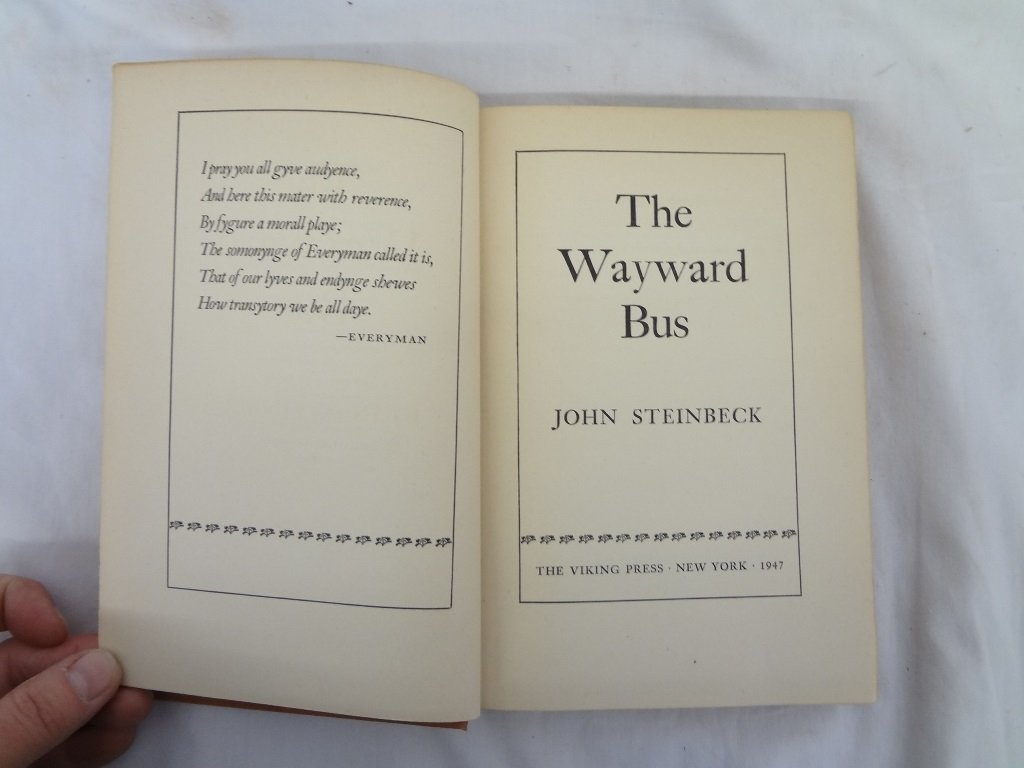 "John Steinbeck ""The Wayward Bus"" The Viking Press 1947 - 3"