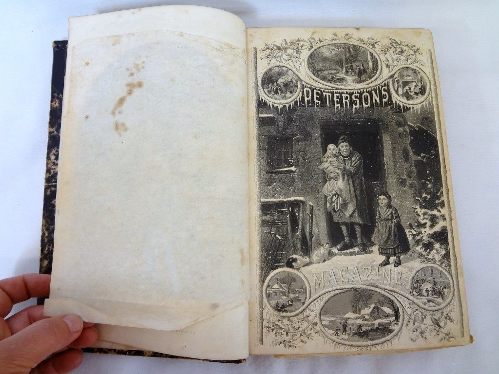 Peterson's Magazine 1861 39th Volume January-June with - 6