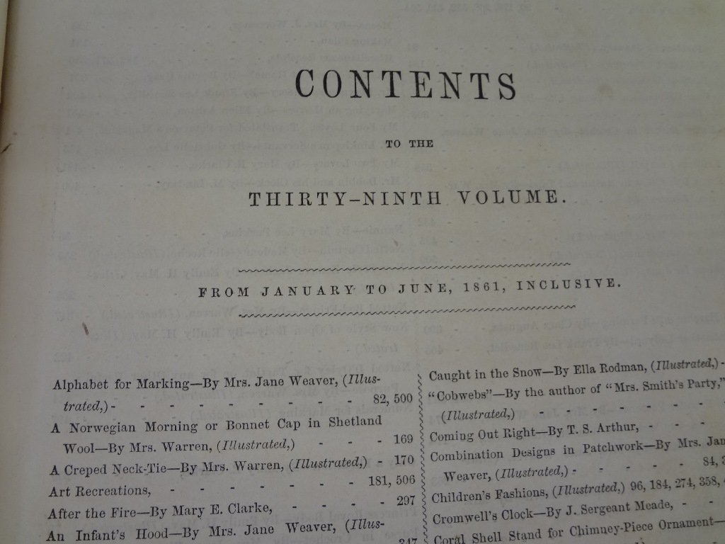 Peterson's Magazine 1861 39th Volume January-June with - 7