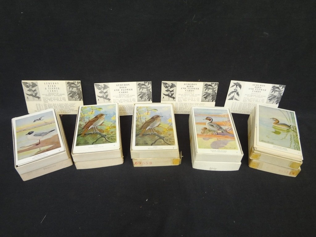 (5) Sets of Audubon and Flower Cards Illustrated by