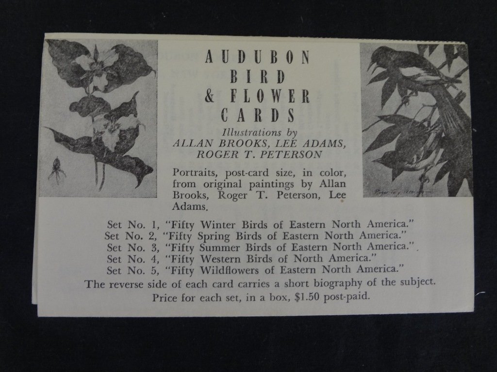 (5) Sets of Audubon and Flower Cards Illustrated by - 4