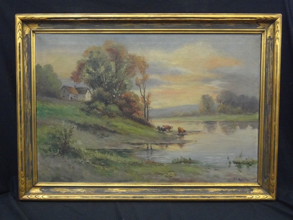 Sister Matilda Landscape Original Oil on Canvas 42 x 30