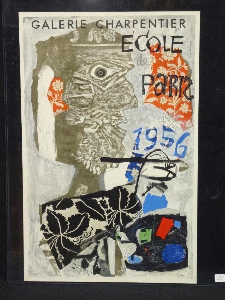 Antonio Clave 1956 Vintage Exhibition Poster
