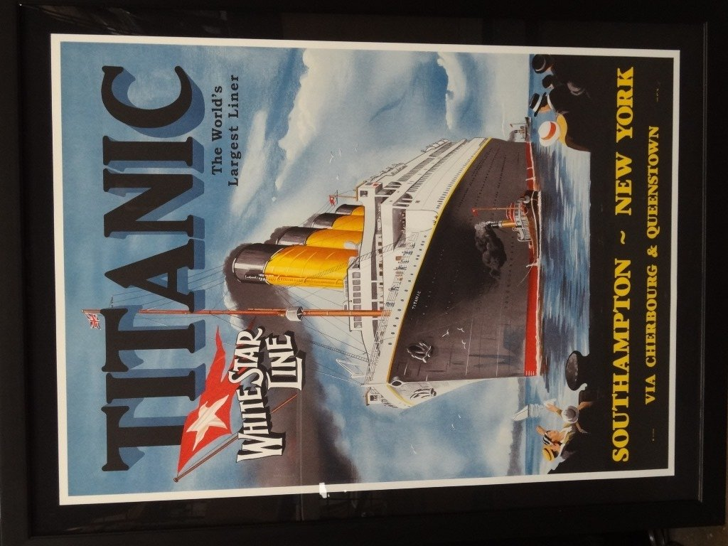 Titanic Large Framed Lithograph from The Re Society on