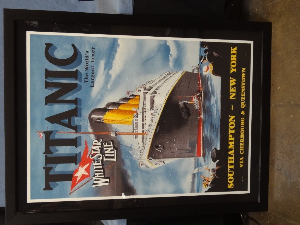 Titanic Large Framed Lithograph from The Re Society on - 2