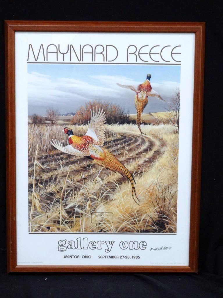Maynard Reese Gallery One Signed Duck Lithograph 1985