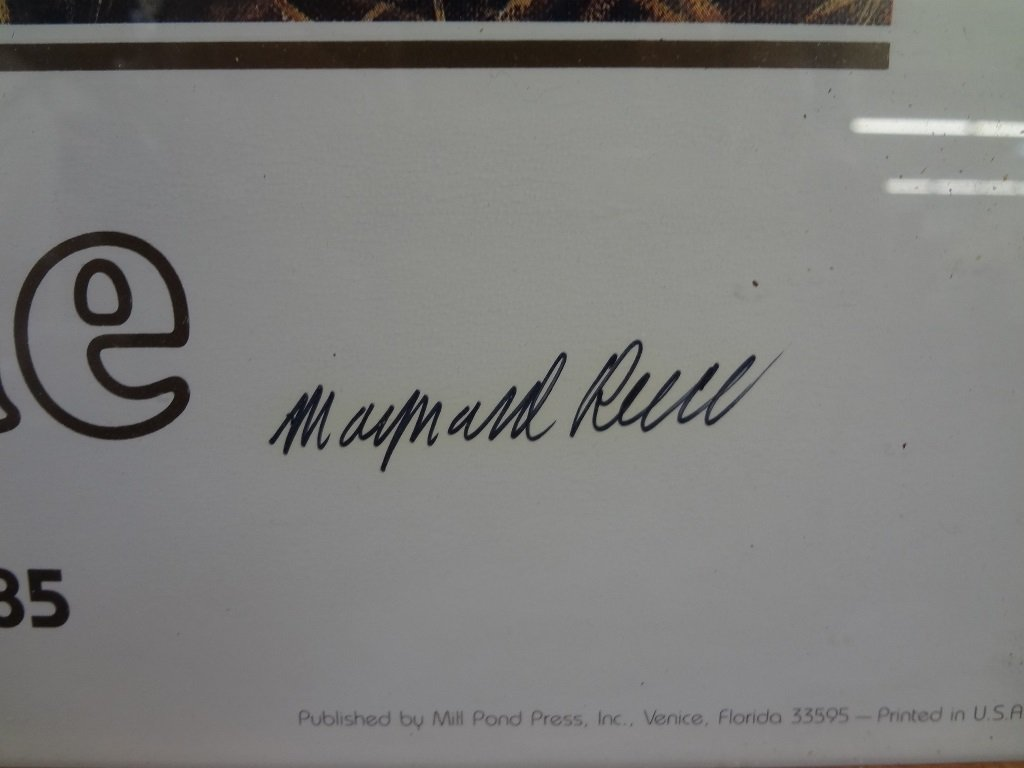 Maynard Reese Gallery One Signed Duck Lithograph 1985 - 2