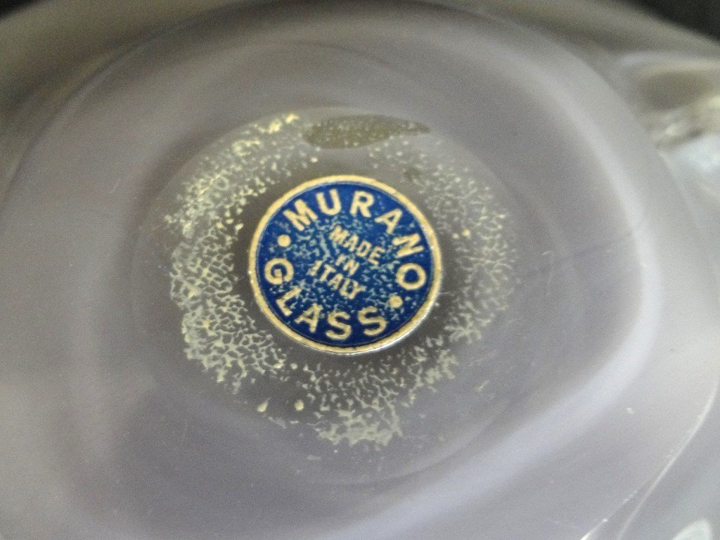 Murano Art Glass Multi Colored Dish Original Sticker on - 4