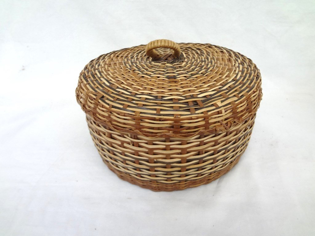 (2) Caribe Indian Baskets with Lids from Dominica - 3