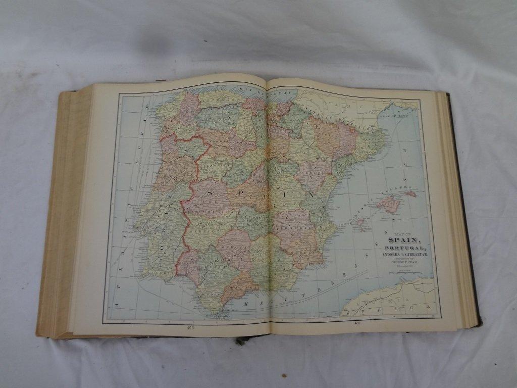 Cram's Modern Atlas the World, Indexed Illustrated 1905 - 5