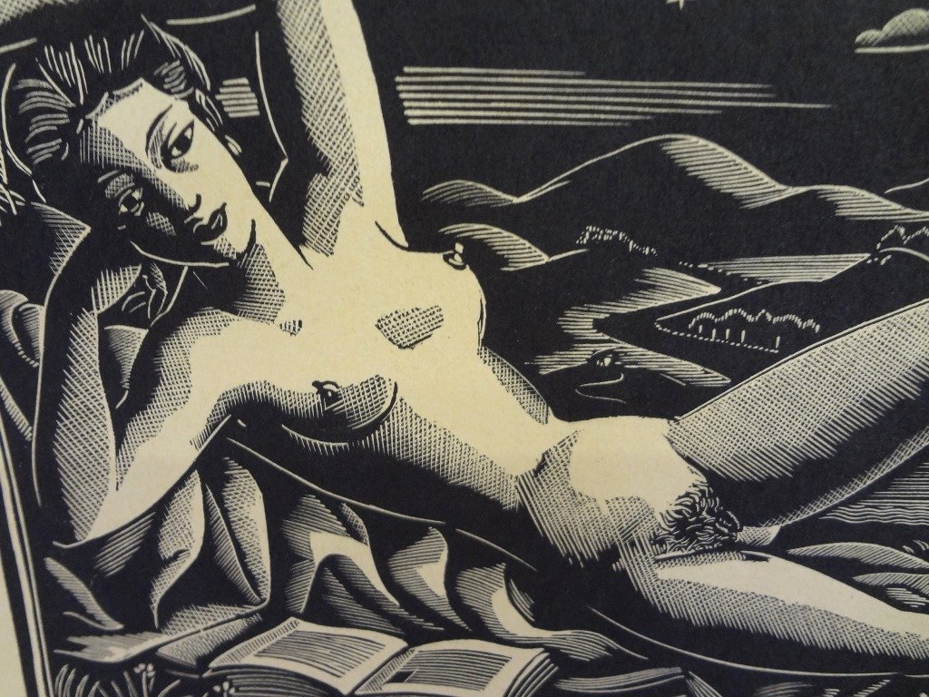"Earl Marshawn Washington Woodblock Print ""Nude"" - 2"