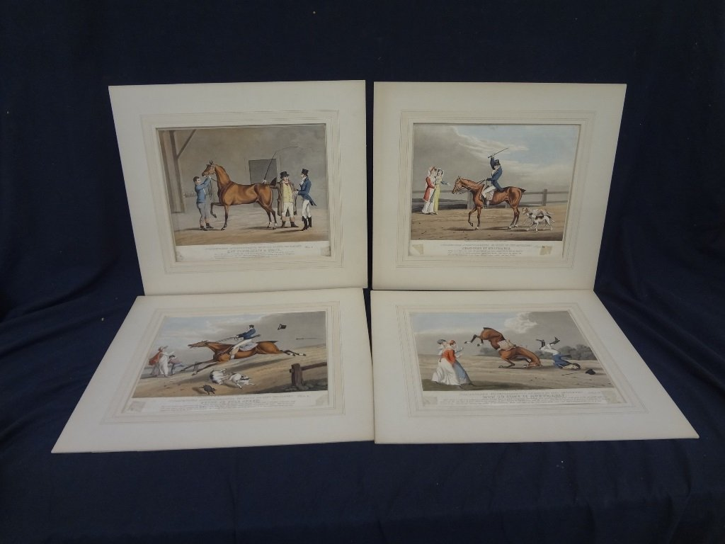 "(4) Aquatints From ""Indispensable Accomplishments, or"