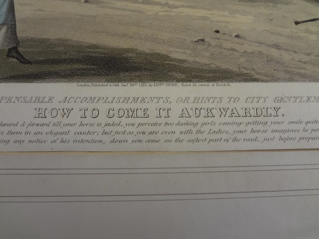 "(4) Aquatints From ""Indispensable Accomplishments, or - 6"