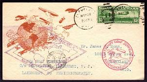 United States Scott C13 on Flight Card