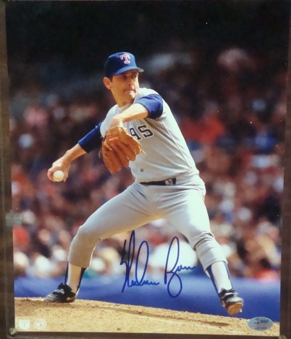 Nolan Ryan Autographed 8x10 Photo Display
