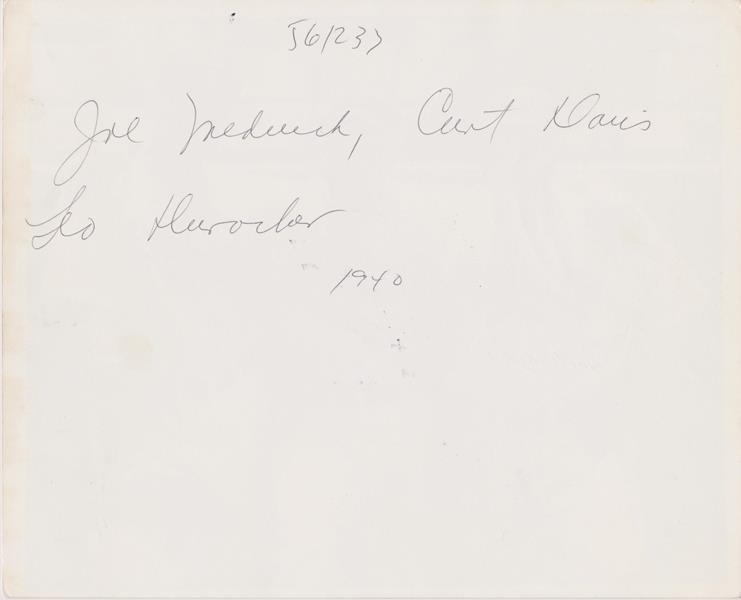 1940 Joe Medwick and Leo Durocher Autographed 8x10 - 2
