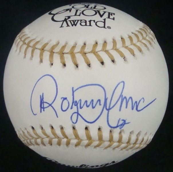Roberto Alomar Single Signed Rawlings Gold Glove