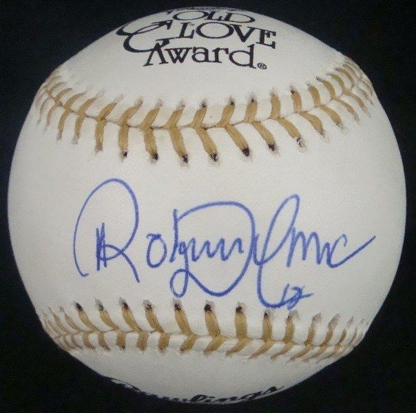 Roberto Alomar Single Signed Rawlings Gold Glove