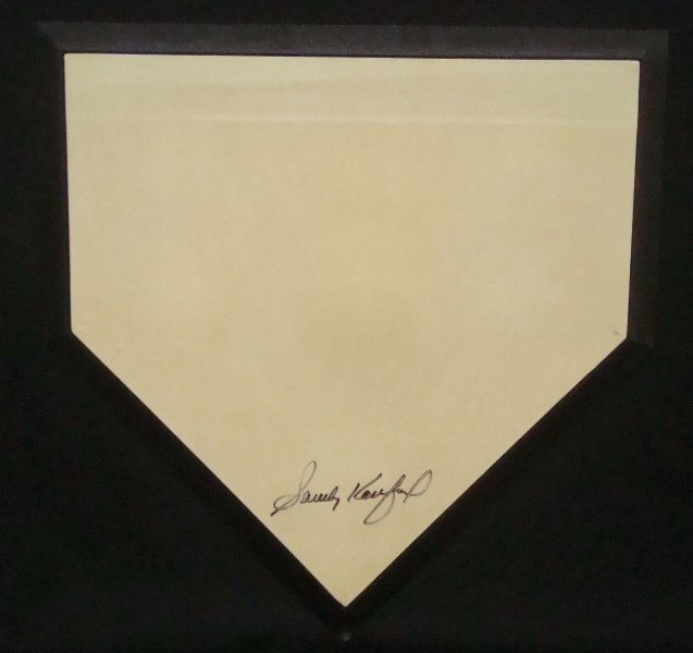 Sandy Koufax Autographed Rawlings Full Size Home Plate