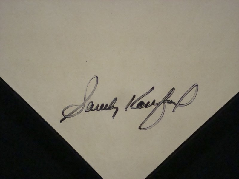 Sandy Koufax Autographed Rawlings Full Size Home Plate - 2