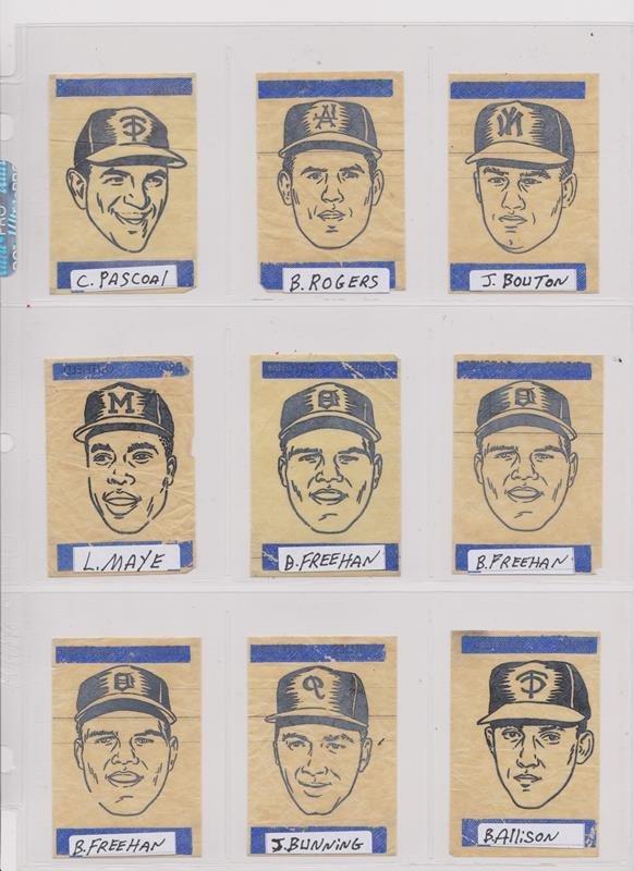1963 Topps Peel-Offs Baseball Cards. (40+) w Stars - 2