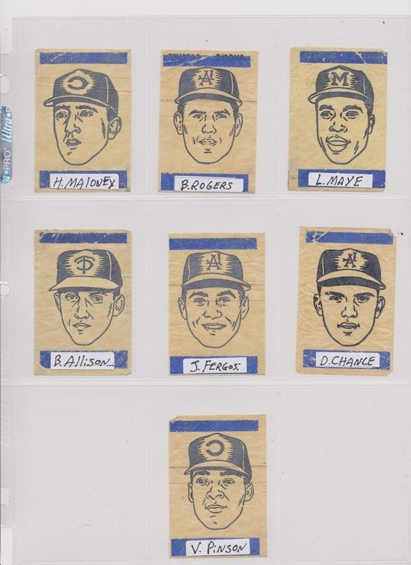 1963 Topps Peel-Offs Baseball Cards. (40+) w Stars - 4