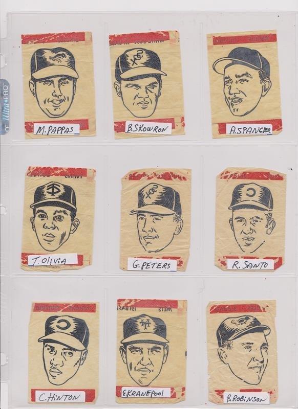 1963 Topps Peel-Offs Baseball Cards. (40+) w Stars - 5