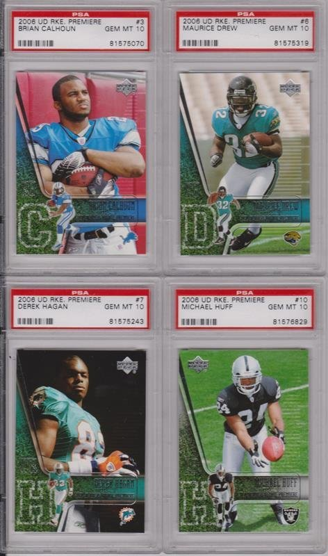 Lot of (20) 2006 Football Rookie Lot, All PSA Graded - 2