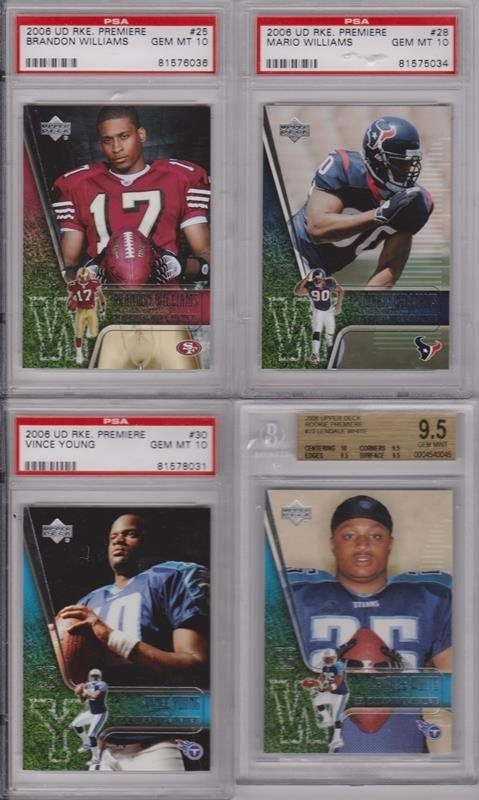 Lot of (20) 2006 Football Rookie Lot, All PSA Graded - 5