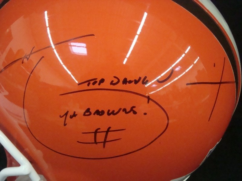Hanford Dixon Autographed Full Size Cleveland Browns - 2