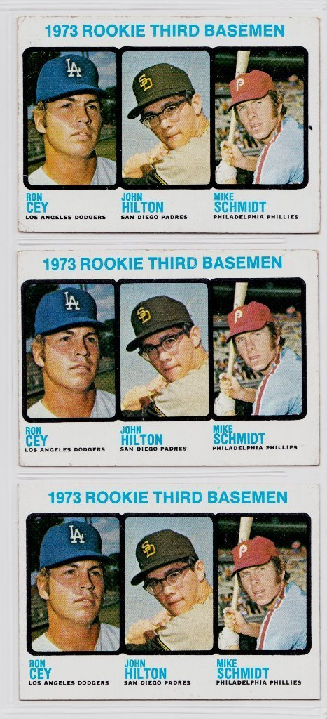 Lot of (3) 1973 Topps #615 Mike Schmidt Rookie Cards
